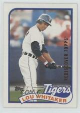 2017 Topps Rediscover Buybacks Bronze #1989-320 Lou Whitaker Detroit Tigers Card