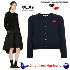 Comme Des Garcons Play CDG Women Cardigan Knit Sweater O-Neck Casual Top Sweater