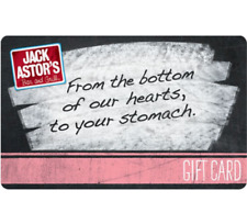 Jack Astor's Gift Card $25, $50, or $100 - Email Delivery
