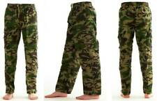 Mens Boys Army Camo Cargo Combat Work Trousers Double Zip Off 3 in 1