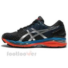 Asics Gel Nimbus 18 T600N 9993 Mens Shoes Black Onyx Silver Blue Running Sneaker