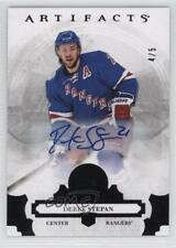 2017-18 Upper Deck Artifacts Black #25 Derek Stepan New York Rangers Auto Card
