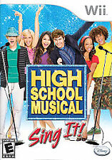 High School Musical: Sing It (Nintendo Wii, 2007) Complete with Manual