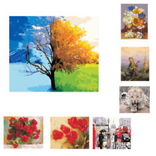 Paint By Number Kits with Brush Hook DIY Oil Painting on Canvas Wall Picture