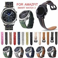 Vintage Leather Strap for Xiaomi Huami AMAZFIT Smart Watch Stratos 2 Pace 2 Band