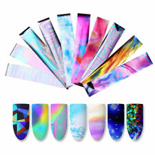 10Pcs Holographic Nail Art Nail Foil Transparent Starry Sky Transfer Sticker New