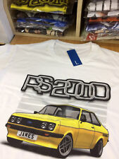 Mk2 ford Escort Rs2000 Yellow Size large white 100% cotton T-shirt B-grade
