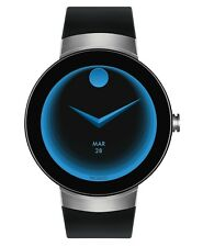 Movado Connect SWISS Black Silicone Strap Stainless Steel Smart Watch 3660016