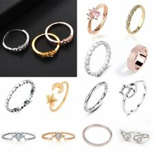 Charm Heart Wing Crystal Plated Adjustable Knuckle Above Finger Tip Rings Band