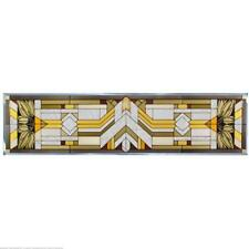 Mission Style Craftsman Color Painted Glass Panel R-112