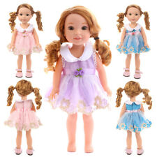 """Handmade Doll Lace Dress Clothes Fits 14"""" American Girl Dolls and Barbie Doll ES"""