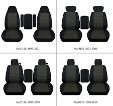 Ford f150 1999-2014 cotton car seat covers black-charcoal, select  seat style