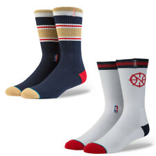Stance Mens NBA Pelicans Arena Socks New Orleans Crew White Navy Lot M or L