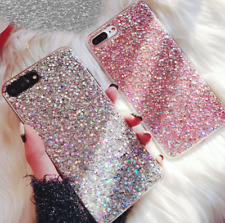For iPhone 5 6 7 8 X Plus Full Bling Glitter Sparkle Protective Phone Case Cover