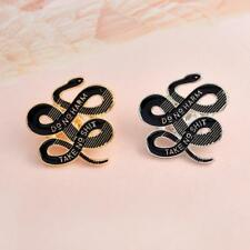 Snake Brooch Pin for Men Suit Lapel Pin Women Corsage Hats Clips Brooches 6L