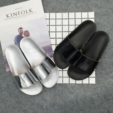 Ladies Home Slippers Casual Comfortable Flat Flip Flops Antiskid Glossy Sandals