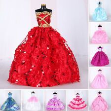 Handmade Princess Clothes Wedding Dress For Barbie Doll Girl Kids Gift Accessory
