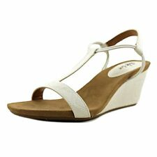 Style & Co. Womens Mulan2 Open Toe Special Occasion Strappy Sandals, White Snake