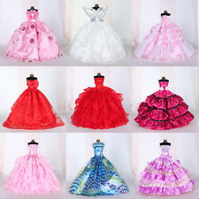 Handmade Wedding Dress Princess Clothes For Barbie Doll Kids Accessory Hot New