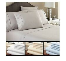 6 Pc Luxury Soft Bamboo Queen or King Sheet Set 2200 Thread Count Deep Pockets