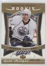 2007 Upper Deck MVP Gold Scripts 363 Andrew Cogliano Edmonton Oilers Hockey Card