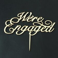 Buythrow® We're Engaged Cake Topper Script Wedding Cake Topper Engagement
