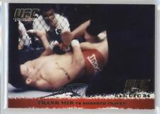 2009 Topps UFC Round 1 Gold #12 Frank Mir vs Roberto Traven Rookie MMA Card