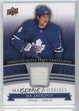 2017 Upper Deck Toronto Maple Leafs Centennial Leaf Materials ML-NA Nik Antropov