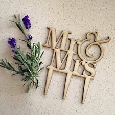 Buythrow® Wooden Wedding Cake Topper Rustic Mr And Mrs Engagement