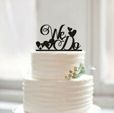 Buythrow® We Do Wedding Cake Topper Personalized Initial Cake Toppers Custom