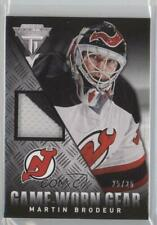 2013 Panini Titanium Game-Worn Gear Patch GG-MB Martin Brodeur New Jersey Devils