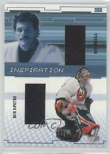 2002 In the Game Be A Player Between Pipes #I-10 Ron Hextall Rick DiPietro Card