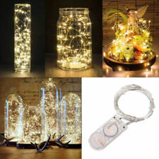 5M 50 LEDs Battery Operated Mini LED Copper Wire String Fairy Lights