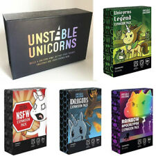 Unstable Unicorns Core Game, NSFW Pack Legends Pack, Rainbow Pack Party Game