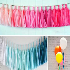 5Pcs Colorful Tissue Garland Bunting Ballroom Paper Tassel Wedding Party Decor