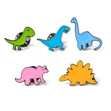 2 X Cartoon Enamel Brooch Jewelry Cute Dinosaur Brooches Pins Children Gift