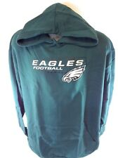 NEW Mens NFL Majestic Philadelphia Eagles Logo Fleece Football Pullover Hoodie