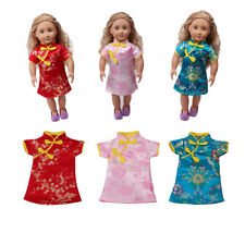 18'' Doll Cheongsam Dress Chinese Gown for American Girl Doll Accessories