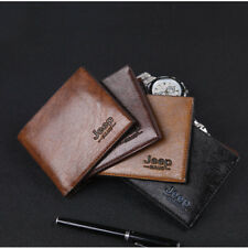 Mens Leather Slim Bifold Credit ID Card Holder Wallet Billfold Purse Clutch LI