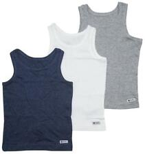 Boys PACK OF 3 Cotton Rich Assorted Vests School Underwear 1.5 to 16 Years