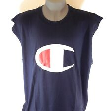 NEW Mens CHAMPION Navy Blue CH3033EJ Muscle Tank Top Cotton Sleeveless Tee Shirt