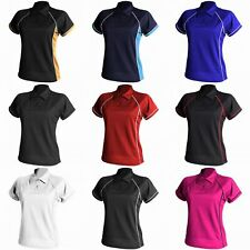 Finden & Hales Womens Coolplus Piped Sports Polo Shirt (RW428)