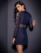 BNWT Agent Provocateur Soiree Willa Top Gown Lingerie Lace Silk Navy XS-S-M