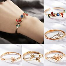 Charm Women Crown Butterfly Crystal Cuff Bracelet Bangle Wristband Jewelry Gift