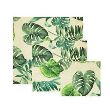 FDA Beeswax Food safe Palm Leaves Food Covers Reusable Wash Wrap Stretch lids