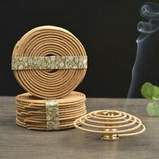48pcs/box Natural Coil Incense Aromatherapy Fragrance Indoors Indian Buddhist