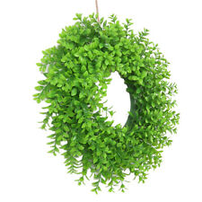 Artificial Green Leaves Garland Fake Foliage DIY Hanging Wreath for Party