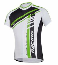 Men's Bicycle Jersey Full Zip Biking Clothes Quick Dry Short  Cycling Apparel
