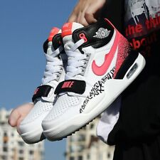 Mens Basketball Athletic Shoes Breathable Air Cushion Sneakers Air High Top Shoe