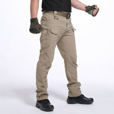 US Men Tactical Work Cargo Long Pants Waterproof Hiking Trousers Climbing Pants